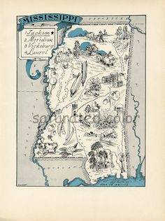 Antique Mississippi Map