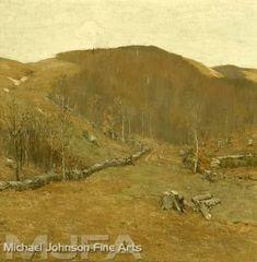 Bruce Crane, American Artist - The Hills – American Fine Arts Barbizon School, Old Lyme, Michael Johnson, Rare Plants, American Artists, Oil On Canvas, Art Gallery, California, Fine Art