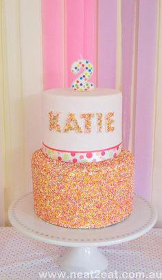 Like the name on the cake idea..