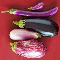 Seasonal Superfood: Eggplants I grill it with olive oil and cilantro with cumin and turmeric to keep off dementia! and make dal, and a herb,walnut basmati rice,a staple for me whenever i can get good eggplants that is. Health Facts, Health And Nutrition, Health Psychology, Purple Vegetables, Fresh Vegetables, Root Veggies, Healthy Vegetables, Eggplant Varieties, Goat Cheese Recipes