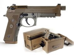 """Beretta M9A3, 9mm, 4.9"""" Desert Tan Loading that magazine is a pain! Excellent loader available for your handgun Get your Magazine speedloader today! http://www.amazon.com/shops/raeind"""