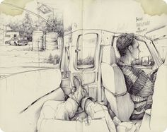 Beautiful sketchbook drawings of Pat Perry