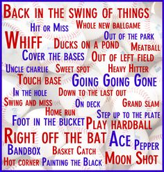 Baseball has the best lingo, and these are just a few! Do you know all of them?