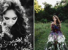 A Dress Made Of Flowers - Weddbook
