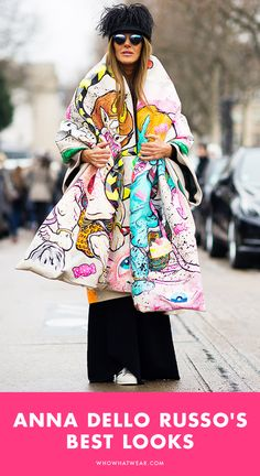 Anna Dello Russo's best runway-inspired street style looks ever.