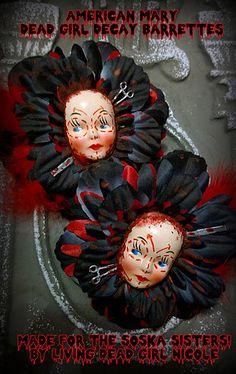 Jen and Sylvia Soska - Twisted Twins - Soska Sisters - American Mary Hair Barrettes