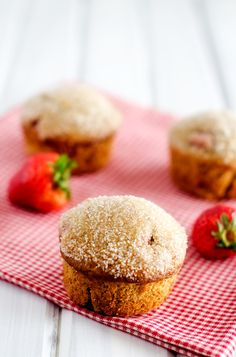 Gluten Free Strawberry Quinoa Muffins