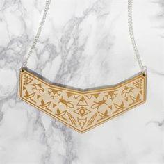 YO ZEN Shaman Necklace Wooden Jewelry