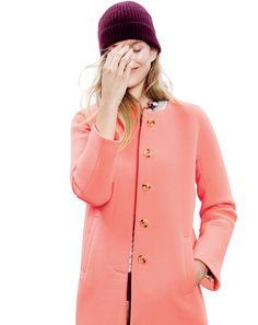 NOV '13 Style Guide: J.Crew double-cloth sabrina coat.