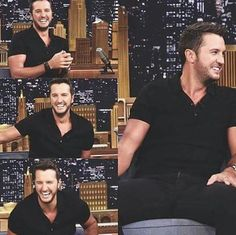 Can he get any more charming?!?! Luke Bryan is justt...oooh wee!