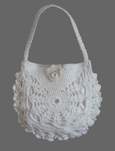 Items similar to Ladies crochet summer handbag / White summer bag/ Purse on Etsy Diy Crochet Bag, Crochet Purse Patterns, Bead Crochet, Irish Crochet, Crochet Summer, Summer Handbags, Summer Bags, Crochet Handbags, Crochet Purses