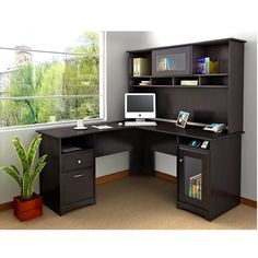 The Best Small Home Office Desk With Hutch is part of Diy computer desk while a person are beautifying Company don& forget about the excellent selection of Small Home Office Desk with Hutch, might - Small Home Office Desk, Office Desk With Hutch, Cool Office Desk, Computer Desks For Home, Home Office Chairs, Home Desk, Home Office Furniture, Desk Chairs, Home Furnishings