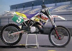 Trampas Parker KTM  SX 250 cc, 1993 - I had a '93, although not as trick as Parker's MXGP bike.  The stock bike had WP upside down forks.