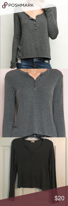 Brandy Melville/John Galt, Henley Long Sleeve never worn perfect condition, bought at brandy but it's listed as John Galt because they sell products by them, stretchy material and most likely to fit a XS, S and M Brandy Melville Tops Tees - Long Sleeve