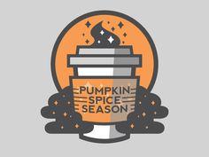 Dribbble - Pumpkin Spice Season by Griffin Van Dyke