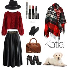 Leather and tartan by katia1978 on Polyvore featuring polyvore fashion style Chicwish Akira Black Label Carvela Kurt Geiger Vivienne Westwood rag & bone Mulberry Carven Lord & Berry