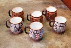 Set aus 6 handbemalten #Kaffeetassen aus Peru