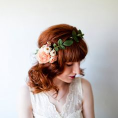 I'm So Dainty Ranunculus Flower Crown by GingertownShop on Etsy