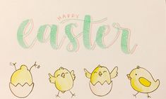 Easter Lettering and Drawing
