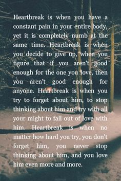 I think I've got heartbreak down. The Words, Favorite Quotes, Best Quotes, Affirmations Positives, Heartbroken Quotes, Heartbreak Quotes, First Love Heartbreak, Feeling Heartbroken, Love Hurts