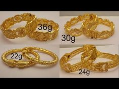 Latest Designer gold bangles with weight Youtube I, Indian Designer Wear, Gold Rings, Bangles, Jewels, Model, Jewellery, Bracelets, Bijoux