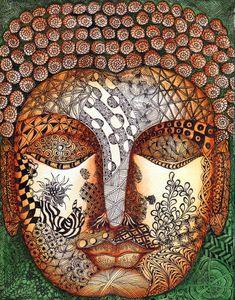 The Zen - Buddha Painting - The Zen - Buddha  by Sandhya Manne
