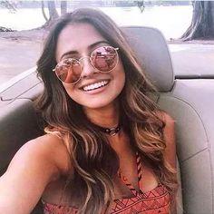óculos redondo 3447 round rosê espelhado feminino john lenon