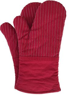 HEAT RESISTANT UP TO 480 DEGREES - Whether removing a pan from your oven, picking up a steaming pot from your stove or tending to a hot grill, you can rest assured that your hands and forearms will be well protected by these high quality, heat-resistant oven mitts. SILICONE STRIPING PROVIDES A NON-SLIP GRIP - Special