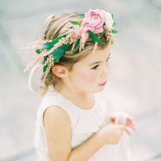 Flower Girl Floral Crown // photo by: Clary Photo // Flower Girl Look: Sisters…