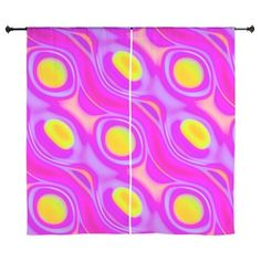 Neon Liquid Abstract Curtains
