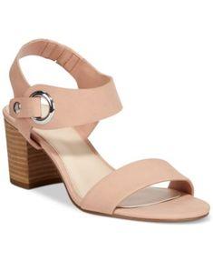 ed69ff992a3 Bar III Birdie City Two-Piece Block-Heel Sandals