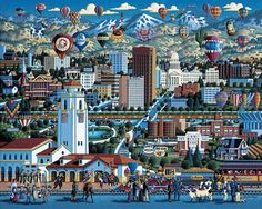eric dowdle folk art - Cities