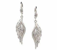 AffinityDiamond 1/8 ct tw Angel Wing Earrings, Sterling