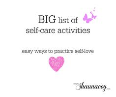 Simply Shaunacey: a big list of self-care activities you can start doing TODAY!