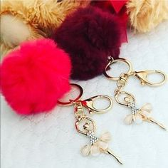I just discovered this while shopping on Poshmark: 🛍$10 Each 🛍2 PomPom Ballerina KeyChain. Check it out! Price: $15 Size: OS, listed by czarley