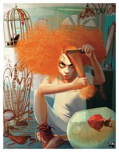 HAIR by Francesca D'Ottavi, via Behance