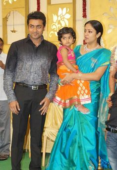 Celebrity Couples, Celebrity Photos, Surya Actor, Blouse Designs Silk, Actor Picture, Actors Images, Elegant Saree, South Indian Actress, Beautiful Saree