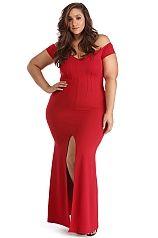 Plus Roxy Red Sweetheart Dress