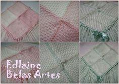 Mantas de lã feitas no tear de pregos