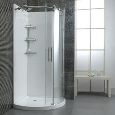 View Axis 32 36 Corner Shower Wall Set 3 Pieces