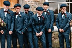 A vintage style Peaky Blinders wedding? We are here with Ash and Sarah who were married on the January 2019 at Dewsall Court in Herefordshire. Tweed Wedding, 1920s Wedding, Wedding Men, Wedding Attire, Vintage Wedding Suits, Vintage Prom, Gothic Wedding, Vintage Hats, Formal Wedding