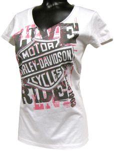 Harley-Davidson® Shirt, Women's Star Struck, White