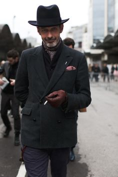 So dashing!!  And I love hats on men as well as on women.  Except for those teeny 60's mens' hats that I hated.