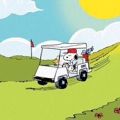 Snoopy & Woodstock golf