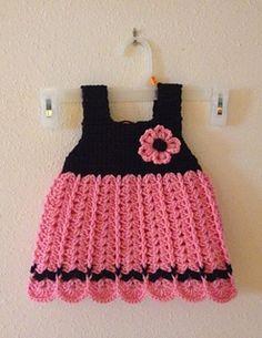 Crochet Baby Dress Camille | Ravelry | Free Pattern