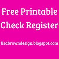 Printable Check Register - Checkbook Ledger   Check register ...