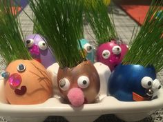 Easter Egg Grass Head Personalities