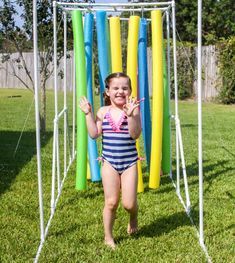 DIY Sprinkler Relay - a fun water course for kids that is simple, inexpensive and provides hours of entertainment for the family! Summer Fun For Kids, Summer Activities For Kids, Diy For Kids, Cool Kids, Family Reunion Games, Family Games, Family Reunions, Youth Group Activities, Youth Groups