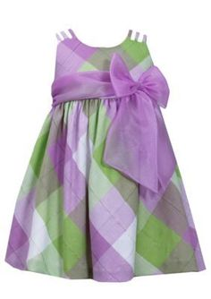 Bonnie Jean  Plaid Linen Dress Toddler Girls