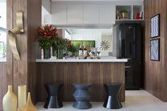 cozinha integrada a sala, decorado vangard vila leopoldina by Fernanda Marques